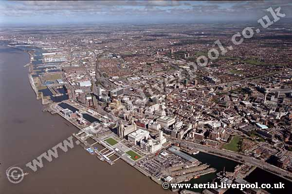 aerial photograph of liverpool