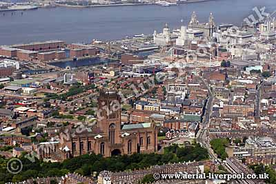liverpool cathedral from the air
