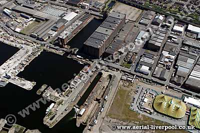 stanley dock & tobacco warehouse aerial